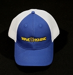 Wave Fishing Flex Fit Trucker Hat Royal Blue**