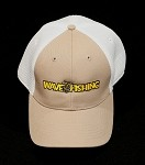 Wave Fishing Flex Fit Trucker Hat Khaki**